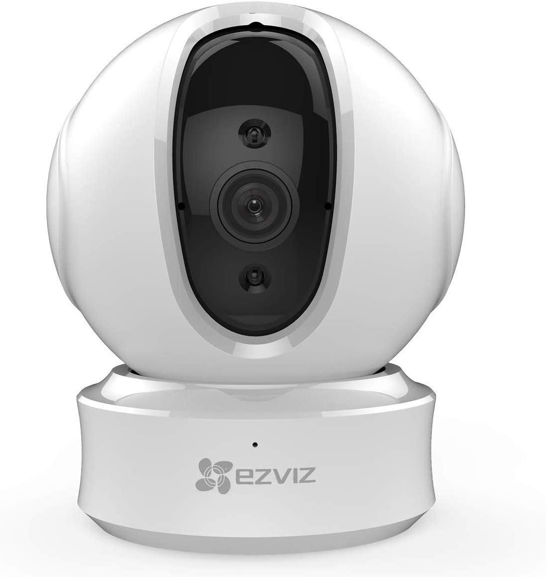 EZVIZ C6CN 1080p Cámara de Seguridad Pan/Tilt WiFi de Vigilancia,Visión Nocturna,Audio Bidireccional,Máscara de Privacidad Inteligente,Seguimiento de Movimiento, Servicio de Nube, Compatible con Alexa