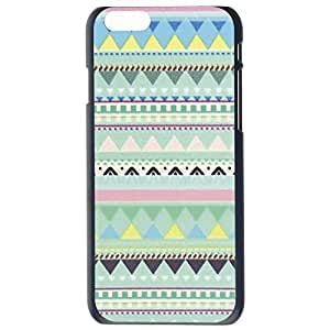 Colorful Aztec Tribal Pattern Triangle Stripe Combination Image Design Hard Plastic Snap On Back Case Cover For Apple iPhone 6G Plus 5.5 by Alexism Size120