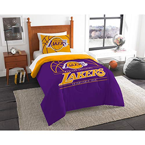 The Northwest Company Officially Licensed NBA Los Angeles Lakers Reverse Slam Twin Comforter and -