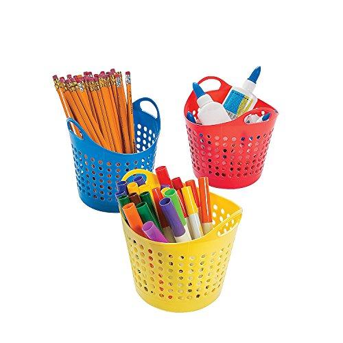 Round Classroom Storage Baskets (12 Pack) 5 1/2'' X 4''. by Fun Express