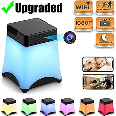 [Upgraded] Hidden Camera Wireless Spy Cameras Night Light WiFi Nanny Cam Home Security Cams Live Stream Video via Android/iPhone APP