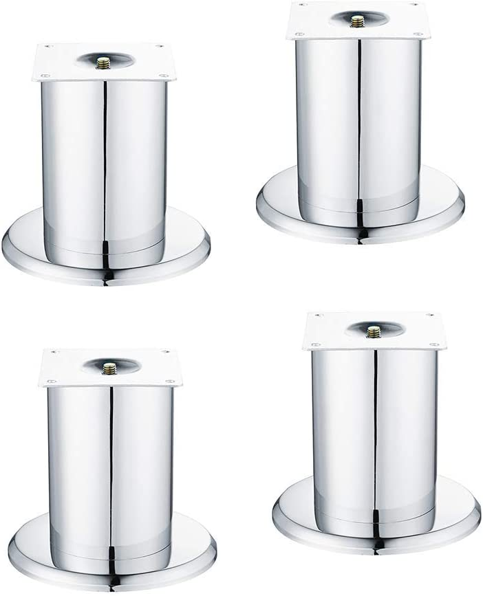 GONGFF Aluminum Furniture Legs, Thickened, Polished, Thickened, Stand for Supports with a Load Capacity of 400 kg, Suitable for Sofas, cabinets, Bathroom cabinets, with Fixing Screws