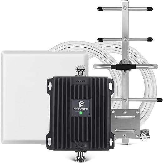 Proutone Amplificador Señal Móvil gsm 3G 900MHz Mejorar Llamadas Banda 8 para Movistar Orange Vodafone Repetidor de Cobertura Móvil con Panel y Yagi ...