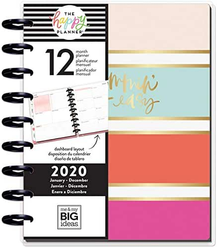 me & my BIG ideas The Happy Planner - Modern Mom Theme - January 2020 to December 2020 - Dashboard Layout - Weekly & Monthly Disc-Bound Pages - Scrapbook - Classic Size