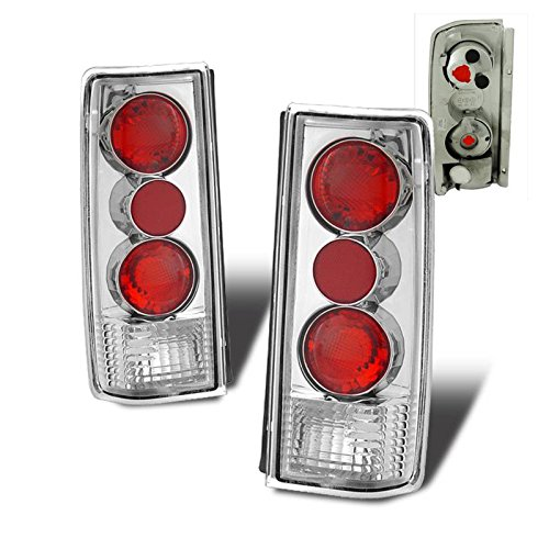 SPPC Chrome Euro Tail Lights Assembly Set For Chevy Astro : GMC Safari - (Pair) Driver Left and Passenger Right Side Replacement ()