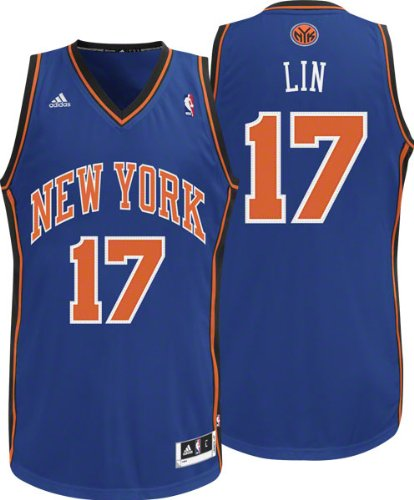 online retailer 5d1cf 84e15 NBA New York Knicks Blue Swingman Jersey Jeremy Lin #17
