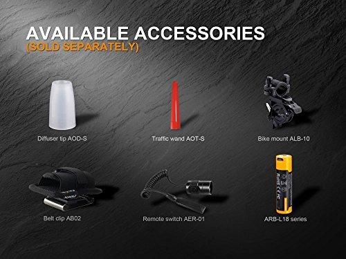 Fenix PD35 V2.0 2018 1000 Lumen Flashlight rechargeable bundle with Fenix USB Rechargeable 3500mAh li-ion Battery & EdisonBright battery carry case by EdisonBright (Image #7)