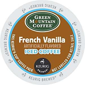 Green Mountain Coffee French Vanilla Iced Coffee, Keurig K-Cups, 72 Count