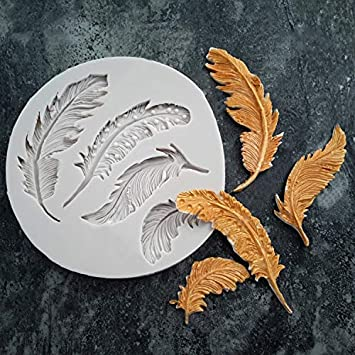 Feather Design Silicone Mould DIY Fondant Cake Mold Tool for Cake Decoration