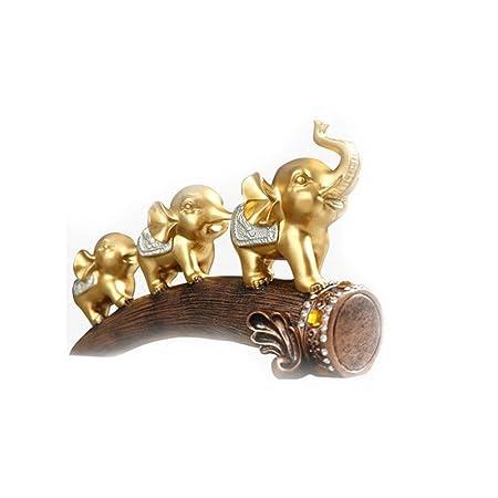 KPPTO Decoración de escritorio Creativa Tres Adornos de Elefantes ...