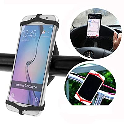 Simple is Better! Attaches to Wrist, Bike, Boat, Chair, Oven, Bags etc! Durable Waterproof Silicone Phone Holder, All Smartphones, Fits in Pocket on Phone!
