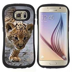"Pulsar iFace Series Tpu silicona Carcasa Funda Case para Samsung Galaxy S6 , Bebé Leopardo Cub Madre Cute Puppy"""