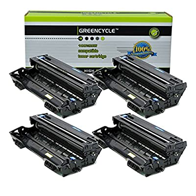GREENCYCLE 4 Pack Compatible DR400 DR-400 Laserjet Drum Replacement Use with Brother DCP-8040D DCP-8045D HL-5130 HL-5170DN MFC-8640D MFC-8840D Printer