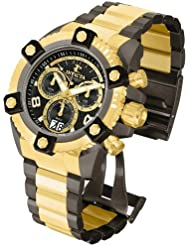Invicta Mens Reserve Swiss Quartz Stainless Steel Casual Watch, Color:Two Tone (Model: 12983)