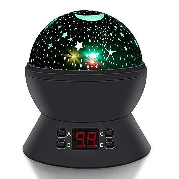 Amazon.com: Proyector de estrella giratoria en forma redonda ...