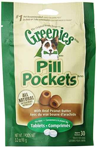 Canine Greenies Pill Pockets Peanut Butter Tablet, 3.2-Ounce by The Nutro Company