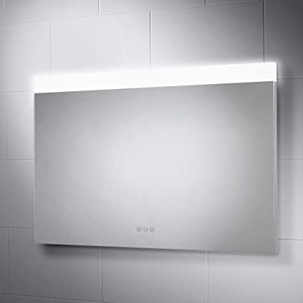 Amazon Com Pebble Grey 36 X 24 Inch Bathroom Mirror With Led
