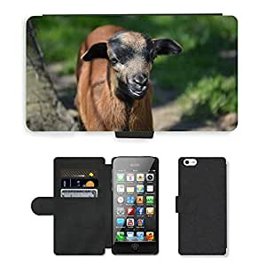 hello-mobile PU LEATHER case coque housse smartphone Flip bag Cover protection // M00136529 Cabra animal Mundial Naturaleza linda // Apple iPhone 5 5S 5G