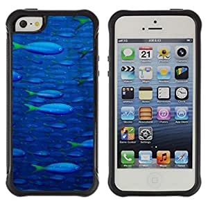 Jordan Colourful Shop@ Fish Ocean Blue Sea Wildlife Swim Art Painting Rugged hybrid Protection Impact Case Cover For iphone 5S CASE Cover ,iphone 5 5S case,iphone5S plus cover ,Cases for iphone 5 5S