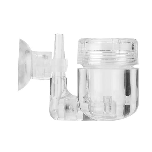 CO2 Difusor, DIY 4 en 1 de Dióxido de Carbono difusor co2 Generador atomizador con ventosas Depósito para el sistema de co2 Válvula Bubble cristal Acuario ...