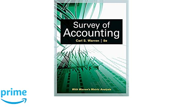 Amazon survey of accounting accounting i 9781305961883 amazon survey of accounting accounting i 9781305961883 carl s warren books fandeluxe Gallery