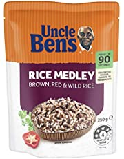 Uncle Ben's Uncle Bens Microwavable Rice Medley, 6 x 250 g, Plain