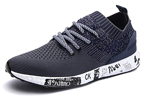 ECOTISH Herren Sportschuhe Sneaker Outdoor Sport Laufschuhe Freizeit Atmungsaktive Schuhe Blau