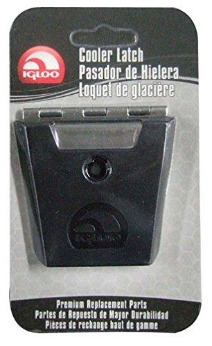 Igloo Hybrid Stainless and Plastic Latch (3.38 L x 0.57 W x 0.57 D Inches) - Black/Silver