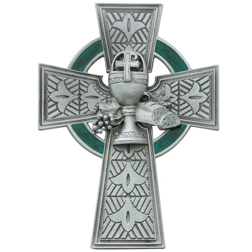 Catholic Girls or Boys First Communion Celtic Cross - 4 3/4 (Boy First Communion Cross)