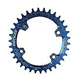 LOLTRA DECKAS Round Oval Aluminium CNC 96BCD MTB Bike Crankset Wide Narrow Chainring for SLX M7000 /XT M8000/ M9000 Bike Crankset (Blue, 34T Round)