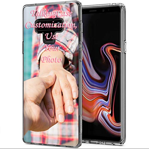 TalkingCase Custom,Personalized Phone Cover for Samsung Galaxy Note 9, Clear Premium Thin Gel Phone Cover,Ultra Flexible Slim TPU,Create Your Own Custom Phone Case,Designed and Printed in USA