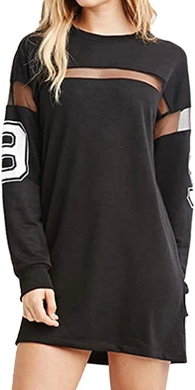 Camisa Vestidos Mujer Camiseta Corto Negro Béisbol Impreso ...