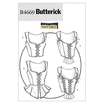Butterick Nähmuster - 4669 Historisches Kostüm Korsettes: Making ...