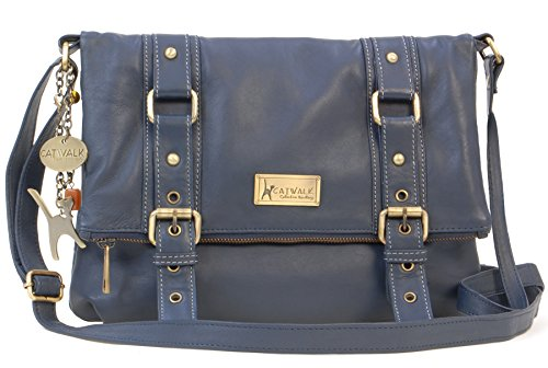 Bleu Collection Femme Handbags Foncé Catwalk Abbey Abbey wdXzWUq
