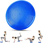 Balance Disc with Pump, Inflated Wobble Board - Strengthen Core Stability, Correct Posture for Workout, Yoga,