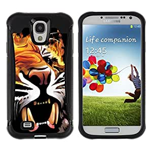 Suave TPU GEL Carcasa Funda Silicona Blando Estuche Caso de protección (para) Samsung Galaxy S4 IV I9500 / CECELL Phone case / / Painting Poster Fangs Tiger Roar Yawn /