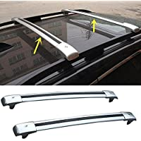 FMtoppeak One Set of 2Pcs Aluminium Alloy Roof Rails Cross Bar Luggage Rack Crossbar for 2014-2016 JEEP Cherokee