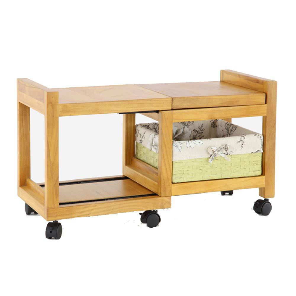 ZZHF ナイトテーブル、滑車が付いている純木のキャビネットの引出しの引出し寝室の居間の引き込み式に適した28