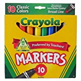 Crayola 794348364824 10ct Classic Broad Line Markers Case of 24 Packs