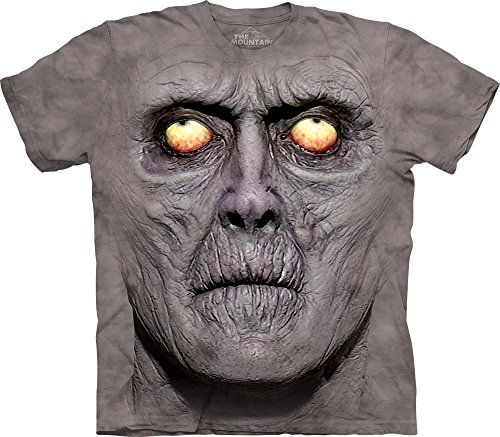 Zombie Clothing (The Mountain Men's Zombie Portrait T-Shirt, Gray, X-Large)