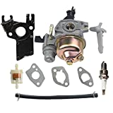 honda gx160 carburetor kit - HIPA GX 160 Carburetor + Fuel Filter Spark Plug for HONDA GX160 5.5 HP GX200 6.5 HP Engine WP30X Water Pump Pressure Washer
