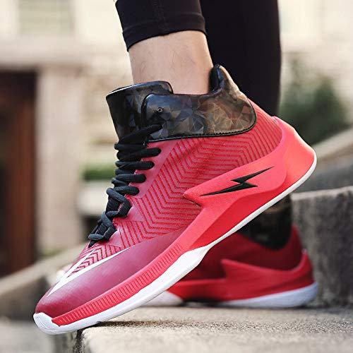 de Calzado Hasag Baloncesto Zapatillas Shock Men's Deportivo Slip Casual red New Absorption SfSTwq0