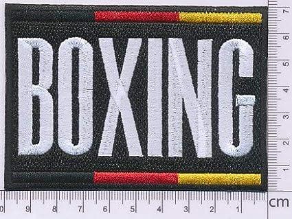 Boxing Germany Aufn/äher B/ügelbild Stickbild Iron on Patch