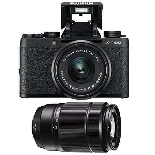Fujifilm X-T100 Mirrorless Digital Camera with XC15-45mm F/3