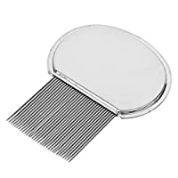Yiyu Premium Dogs Cats Pets Flea Lice Comb Stainless Steel (Mode B Smooth,Blue)
