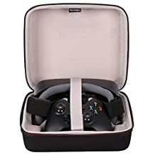 LTGEM Case for All Generations of Samsung Gear VR and Xbox Wireless Controller or Xbox 360 or Sony PS4 Controller-Black