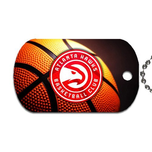 "Hawks Basketball Dog Tag with 30"" chain necklace Great Gift Idea Atlanta"