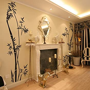 Vinyl Bamboo Wall Decal Bamboo Decal Quotes Tree Wall Decal Bamboo Wall  Decor Wall Applique Home