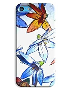 Hand Drawn Watercolor Flowers Case for your iPhone 5C