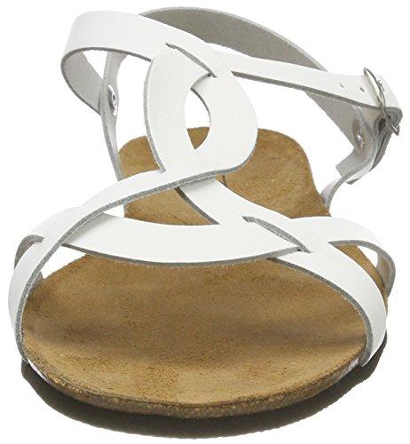 Sandales Wave Blanc Esprit Sdl Cheville Femme white Bride Kendra x600Hnt